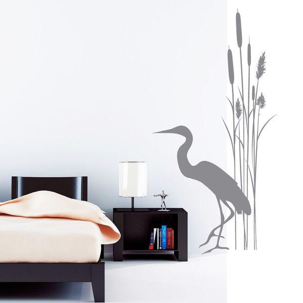AuBergewohnlich Wandtattoo+Badezimmer+Schilf+Kranich+Bambus+von+Wandtattoo  Loft+auf+DaWanda.com
