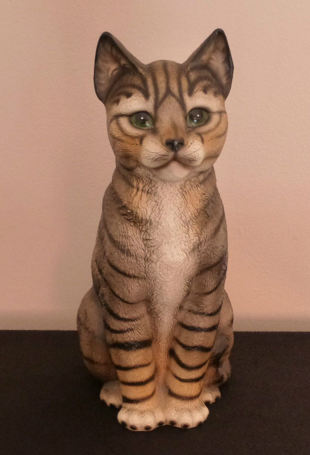 Harvey Knox Ceramic Tabby Cat Figurine 11 Inches