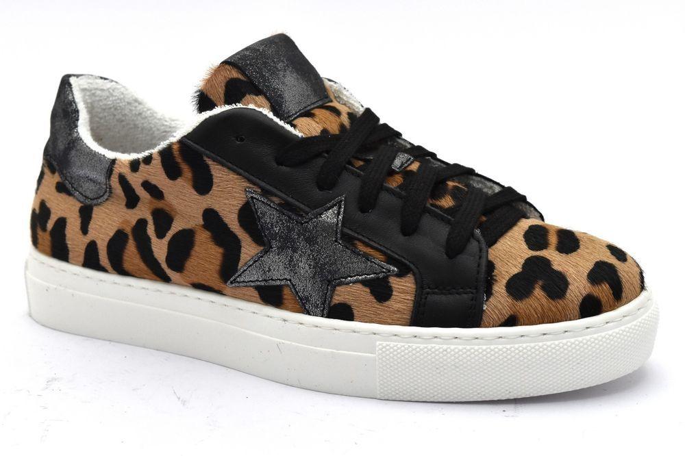 DIVINE FOLLIE ESAMY 01 MACULATO Sneaker Scarpe Lacci Cavallino Invernali  Donna 6136db2f720