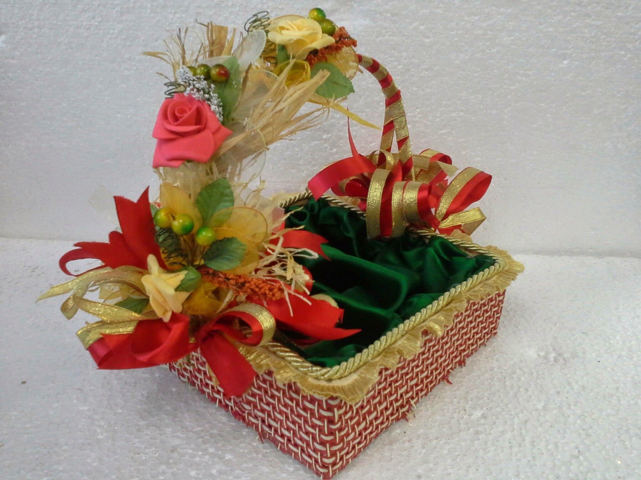 Basket Flower Decoration Class 3 Basket Decoration Gift Packing Course Pinterest