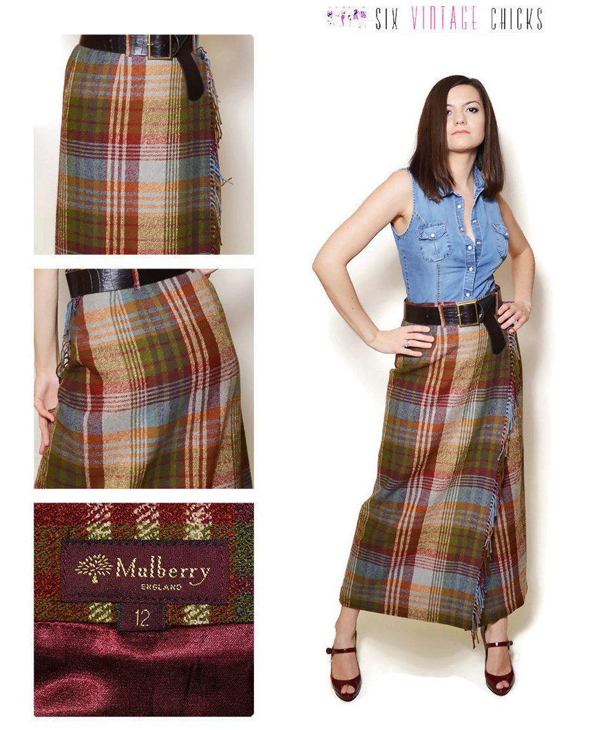 maxi skirt pattern high waisted skirt plaid tartan rock