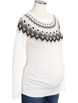 Maternity Fair Isle Sweaters | Old Navy | Chic Bump | Pinterest ...