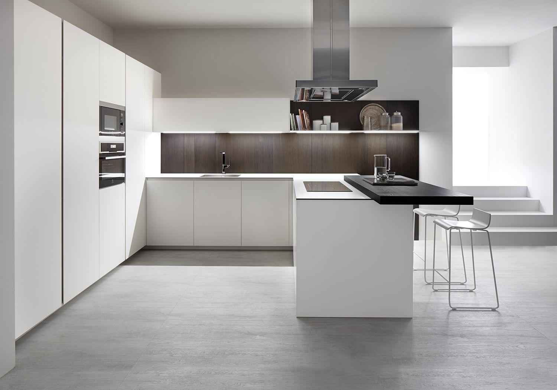 Dica serie 45 una cocina blanca combinada con madera - Cocina diseno moderno ...