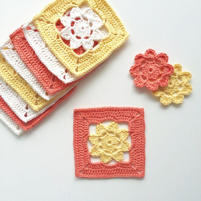 Easy Peasy Flower Squares Crochet Pattern Crochet Patterns