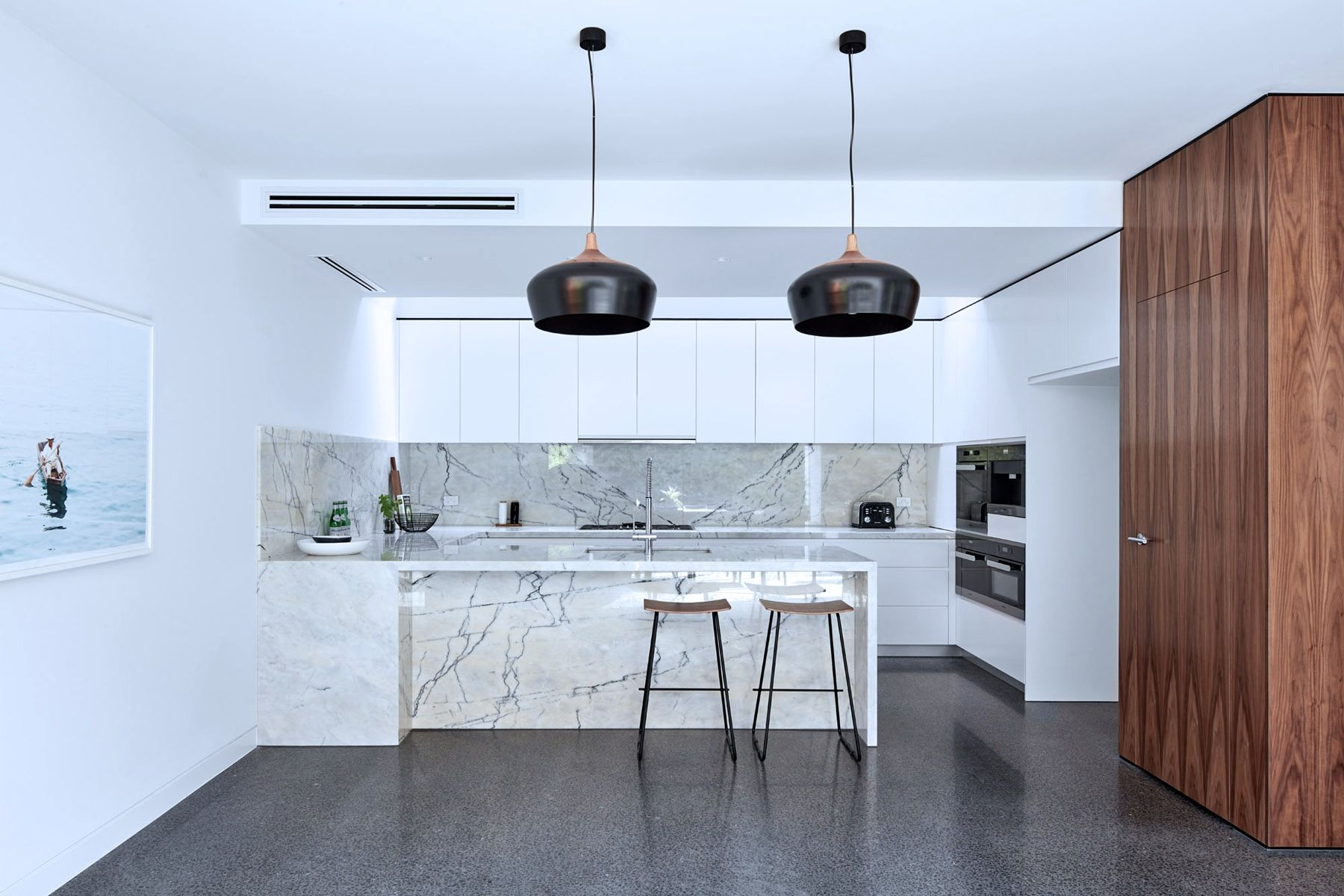 Attila\'s Asena White Marble (busy selection) | Kitchen | Pinterest ...