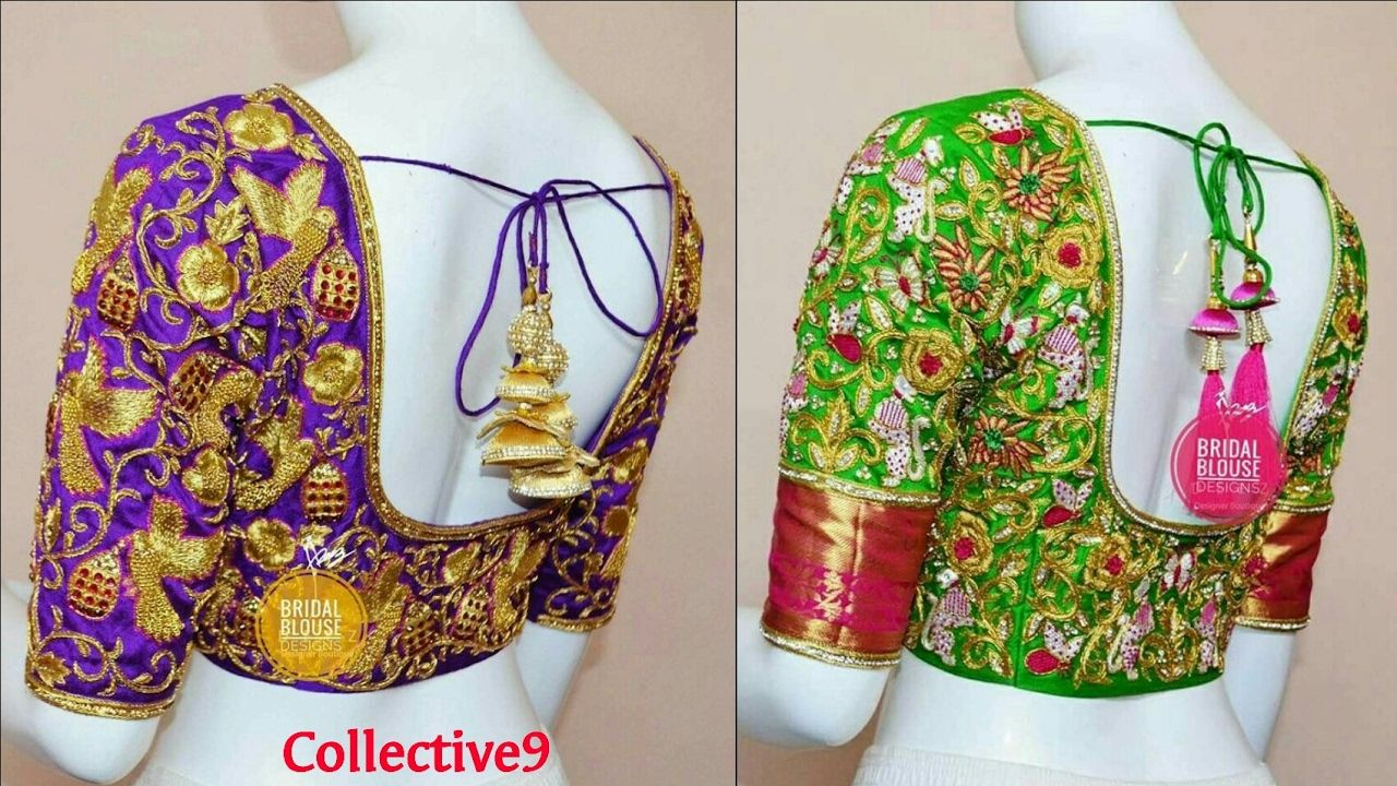 Latest Heavy Work Designer Saree Blouse Designs // Fashion 2017 ...
