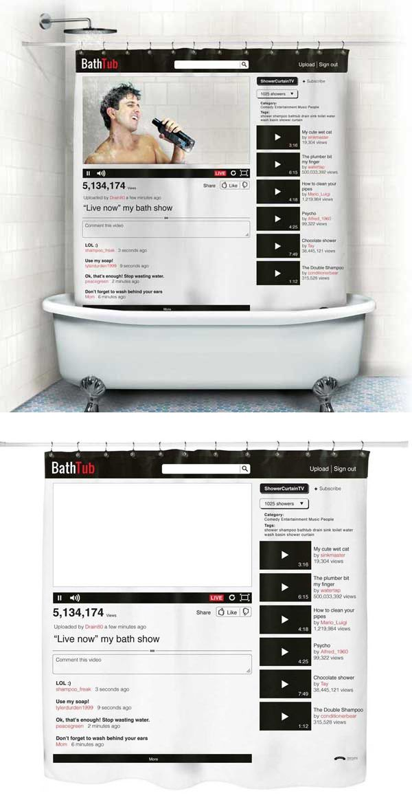 Youtube Shower Curtain A Gift For Aspiring Singers