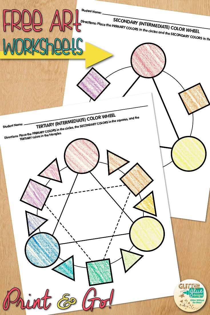 Color Theory Handout Color Wheel Worksheet Freebie Art Sub Plans Ideas Classroom Art Projects Art Sub Plans Color Theory Art [ 1100 x 735 Pixel ]