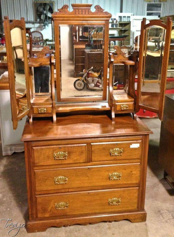Auction Preview Houston Antique Furniture Auctions Events Trevizo Estate Triple Mirror Dresser