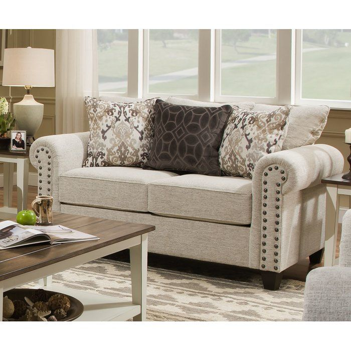Merseyside 64 Rolled Arms Loveseat Cheap Living Room Sets