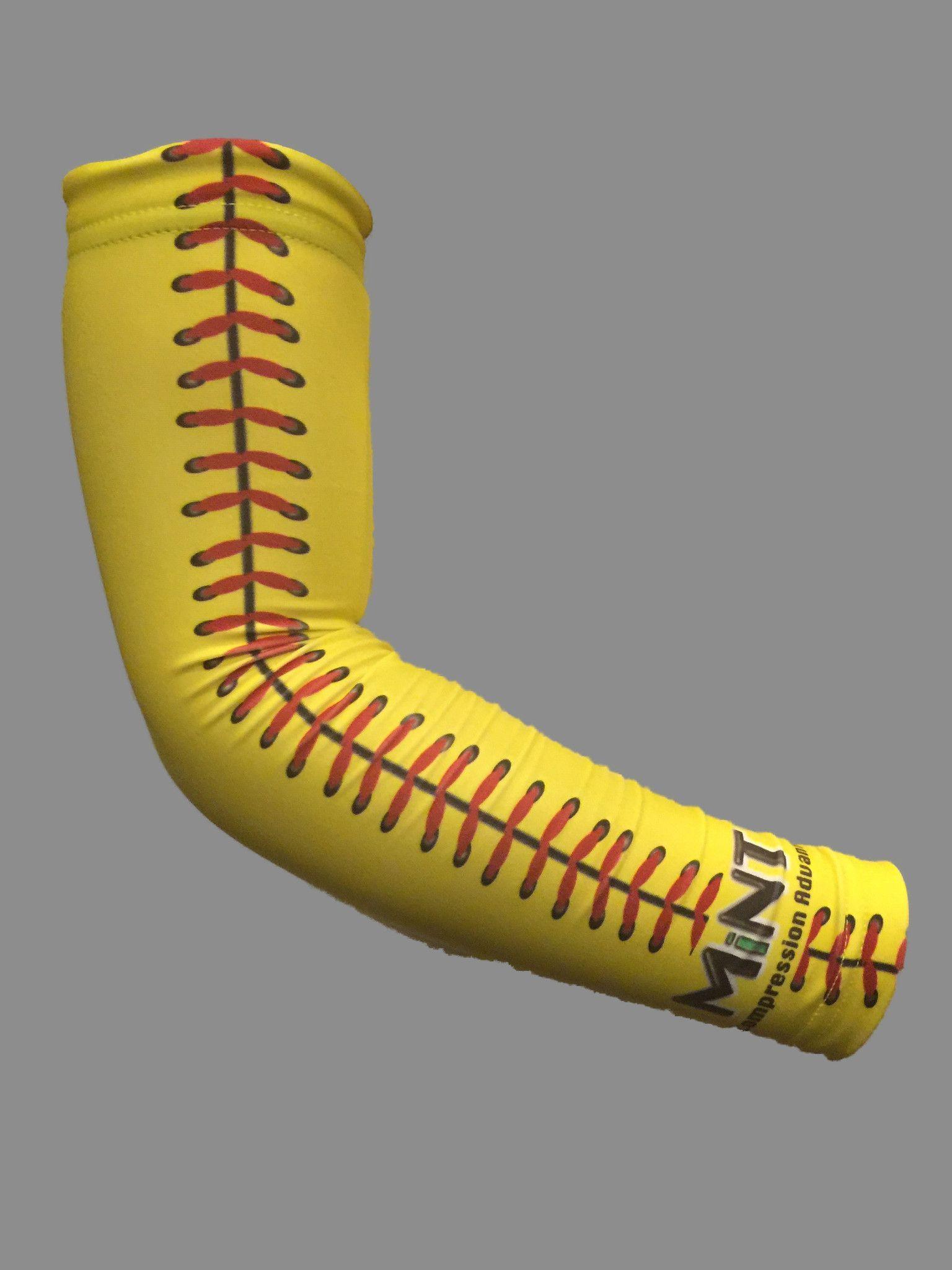 Yellow Softball Arm Sleeve Softball Softball Outfits Softball Gifts