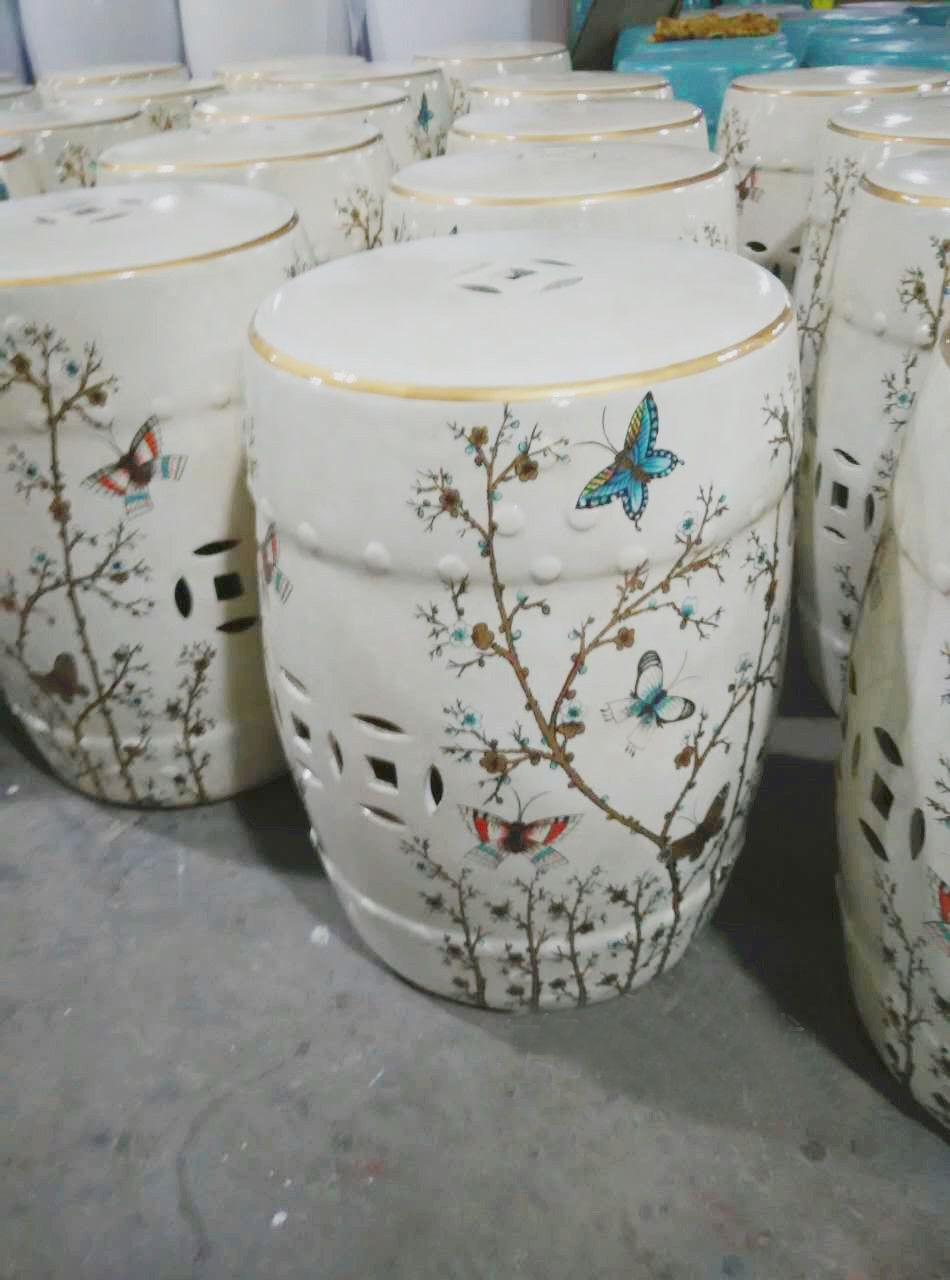 [Free Shipping] Buy Best New Chinese Butterfly Flower Design Porcelain  Garden Stools Online With LOWEST Price | 32681616145