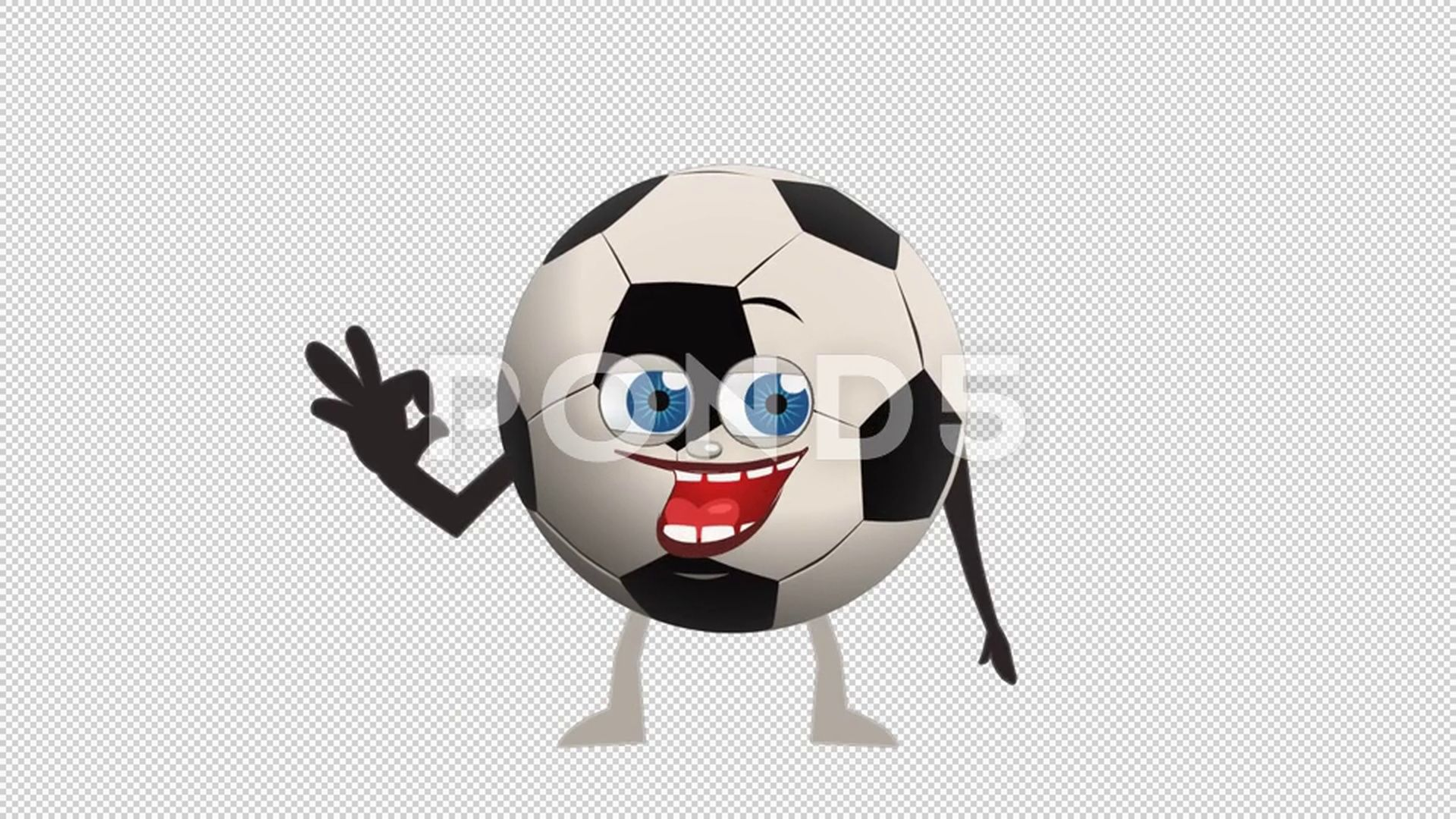 Cartoon Soccer Ball Ok Animation With Alpha Channel Stock Footage Ball Animation Cartoon Soccer Cool Animations Alpha Channel Animated Cartoons