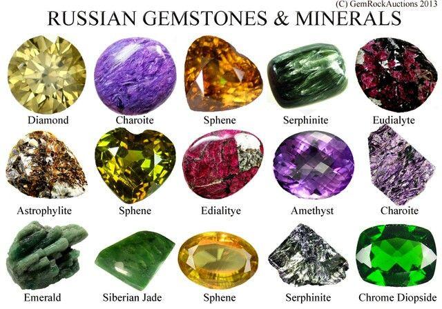 197acbdb19e3a Russian Gem Stones pretty. | Interesting | Rare gemstones, List of ...