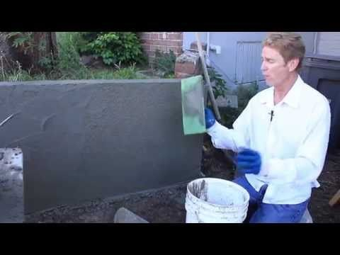 How To Stucco A Block Wall