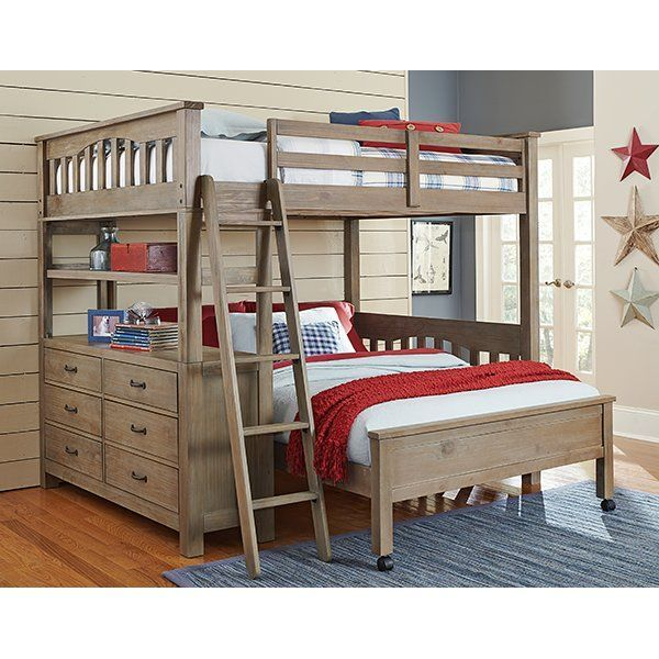 Best Gisselle L Shaped Bunk Beds With Drawers And Shelves 400 x 300