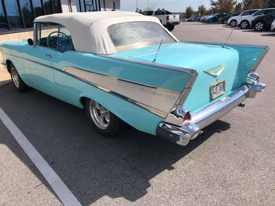 Sights to see at our preowned building today! A '57 Bel