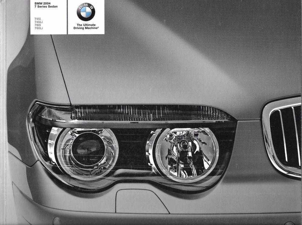 BMW 2004 7 Series Sedan 745i 745Li, 760i, 760Li Advertising Brochure Paperback