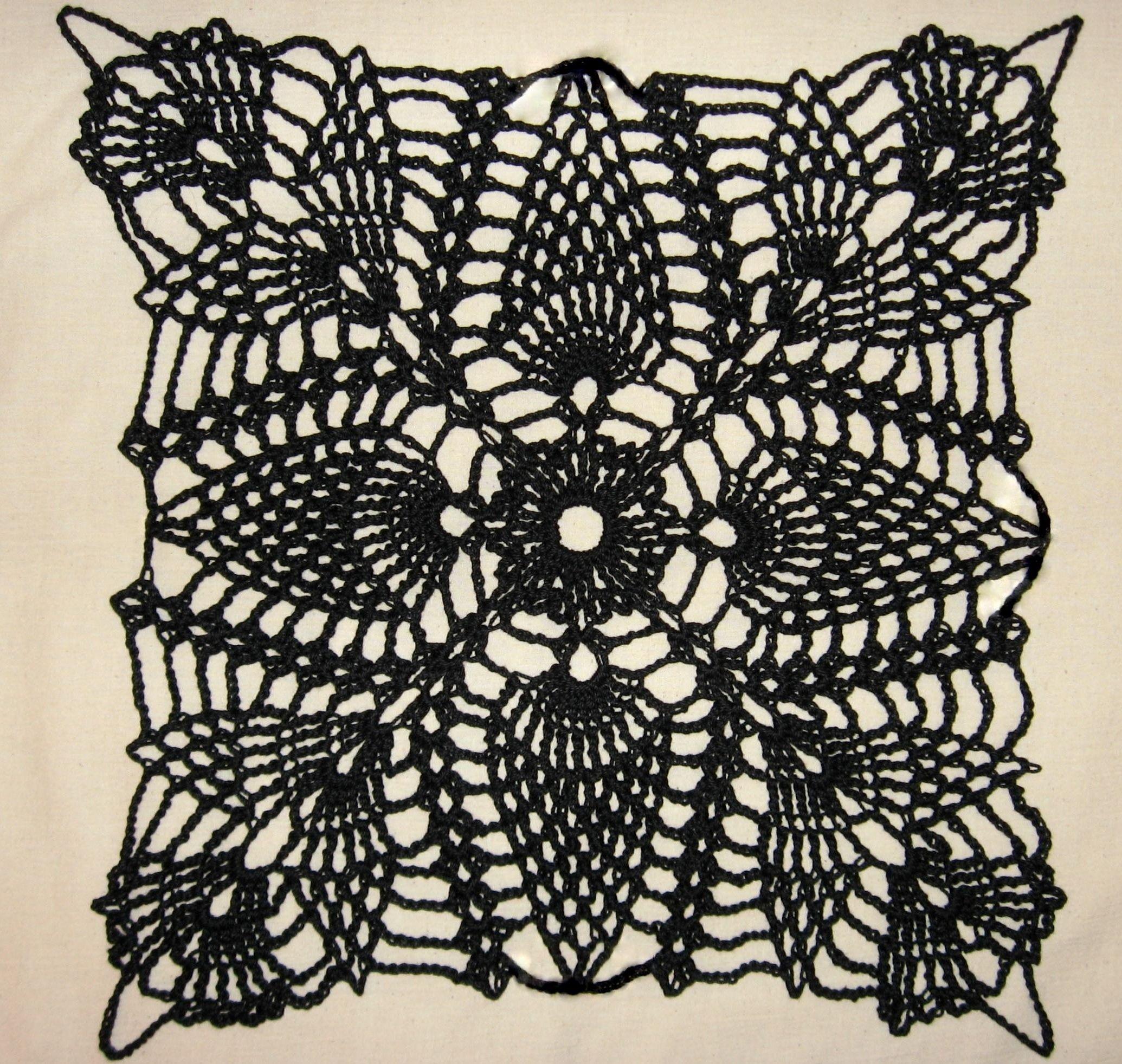 Part I – Square Pineapple Crochet Motif | Crochet - Blankets ...