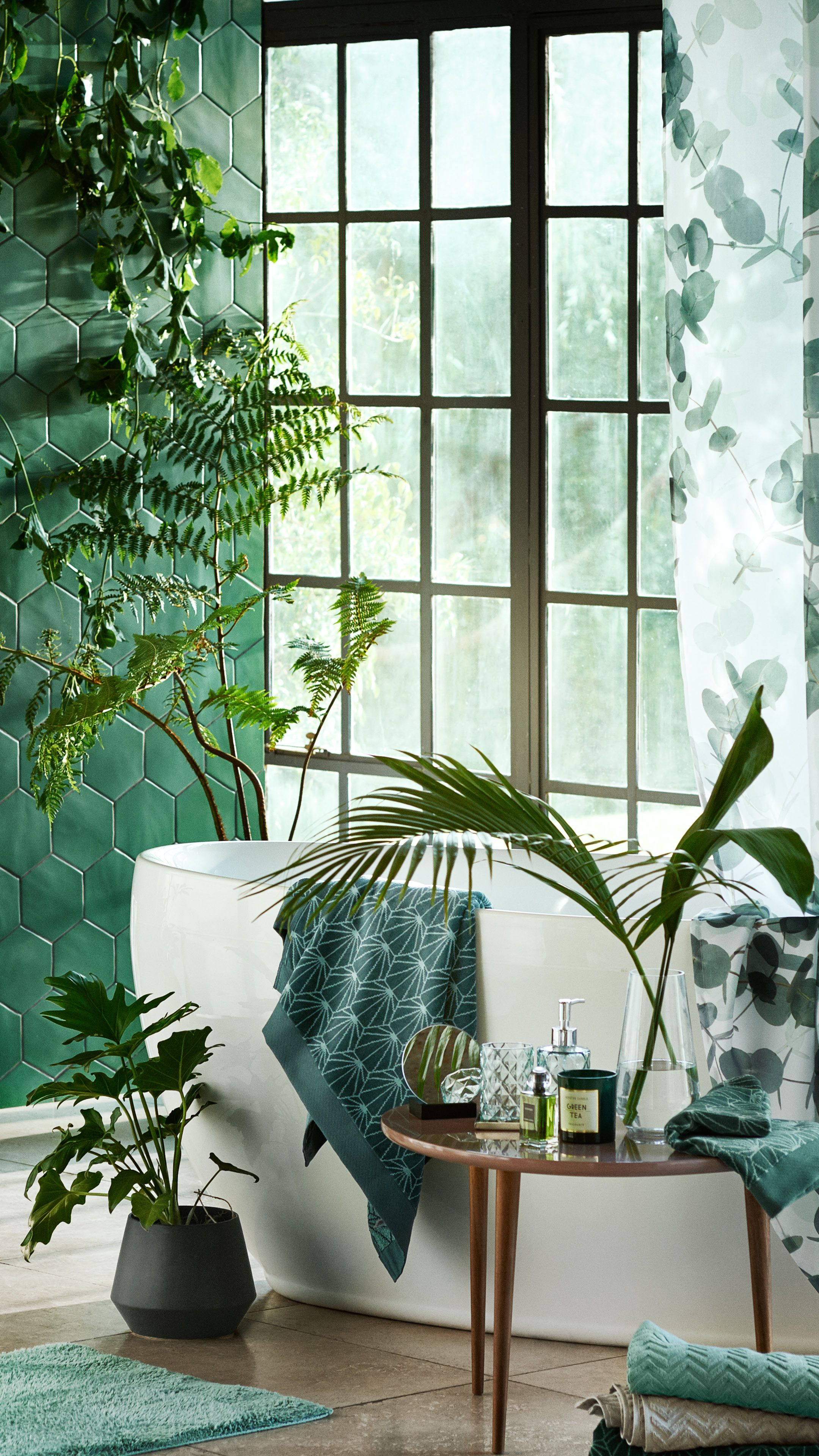 Meuble Salle De Bain Boheme ~ liven up any room with new home accessories and green tones h m