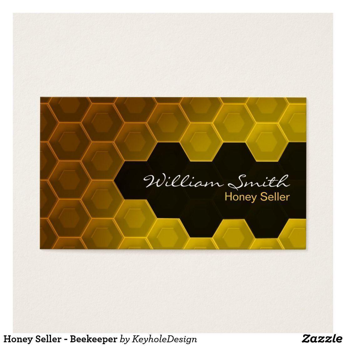 Honey Seller - Beekeeper Business Card #beekeepingbusiness ...