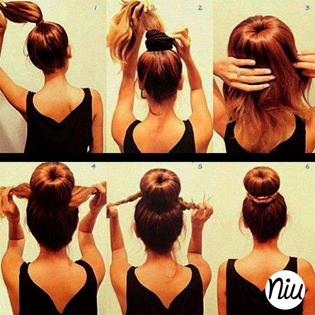 si tienes un cabello largo, te animas a recogerlo así? :) ::: www.niuenlinea.co ::::