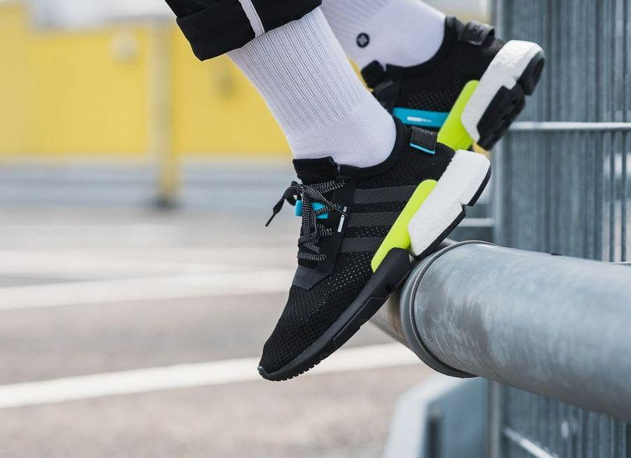 adidas POD S3 1 core black ftwr white on feet (2018) | Sneakers ...