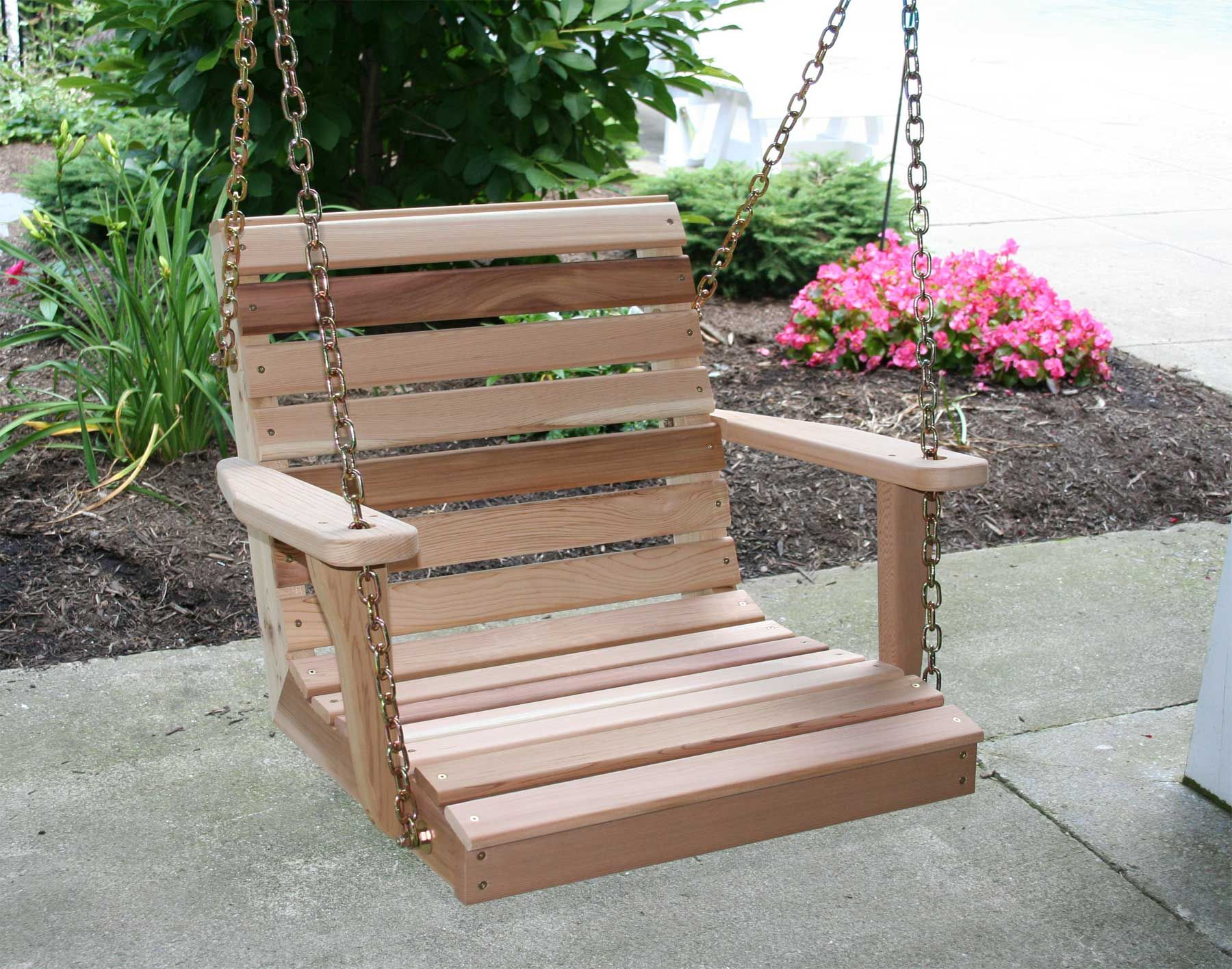 Red Cedar American Classic Porch Swing 2 Porch Swing