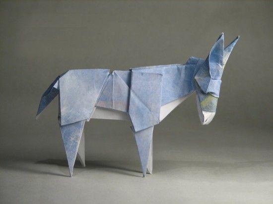 Blueberrymodern Origami Donkey By Anjelica Origami Pinterest