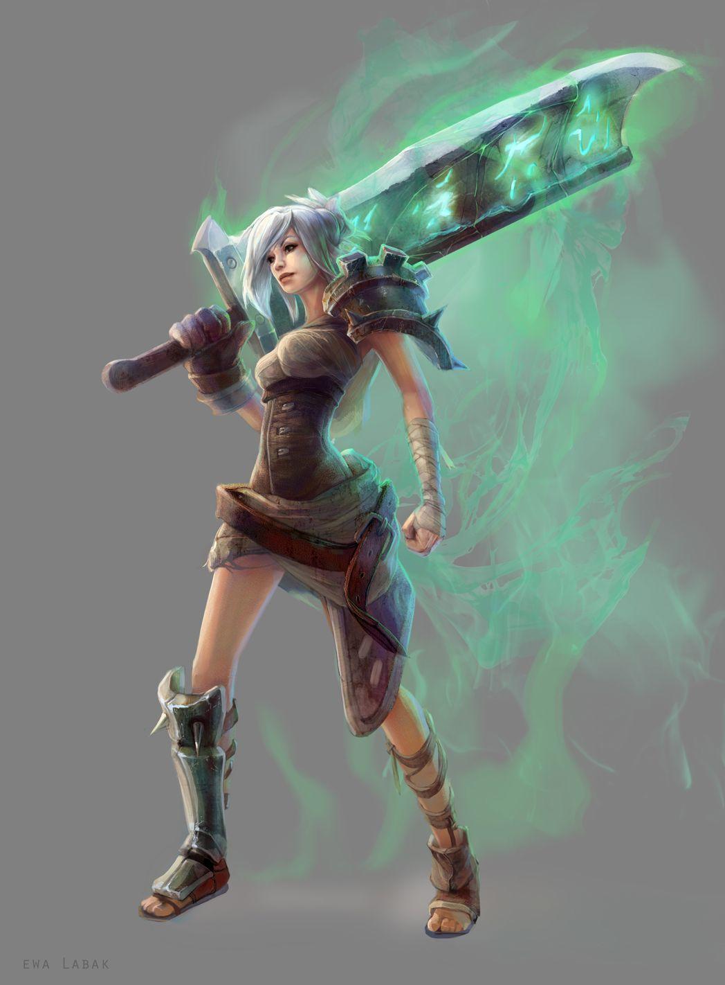 League of Legends - Riven by EwaLabak.deviantart.com on @deviantART