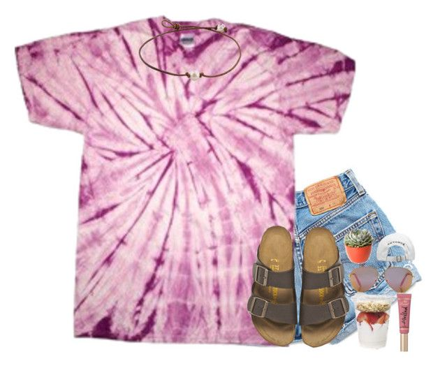 """""""so excited for cheer camp¡!"""" by kate-elizabethh ❤ liked on Polyvore featuring Levi's, Birkenstock, Victoria, Victoria Beckham, Too Faced Cosmetics and PLANT"""