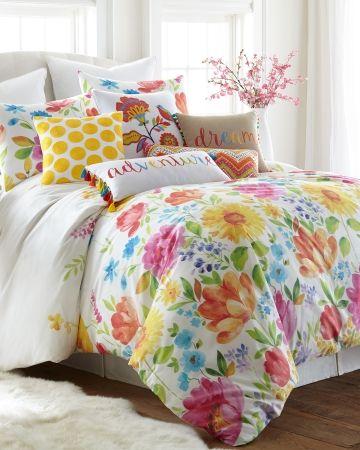 Floral 3 Piece Comforter Set Full/Queen, Main View in