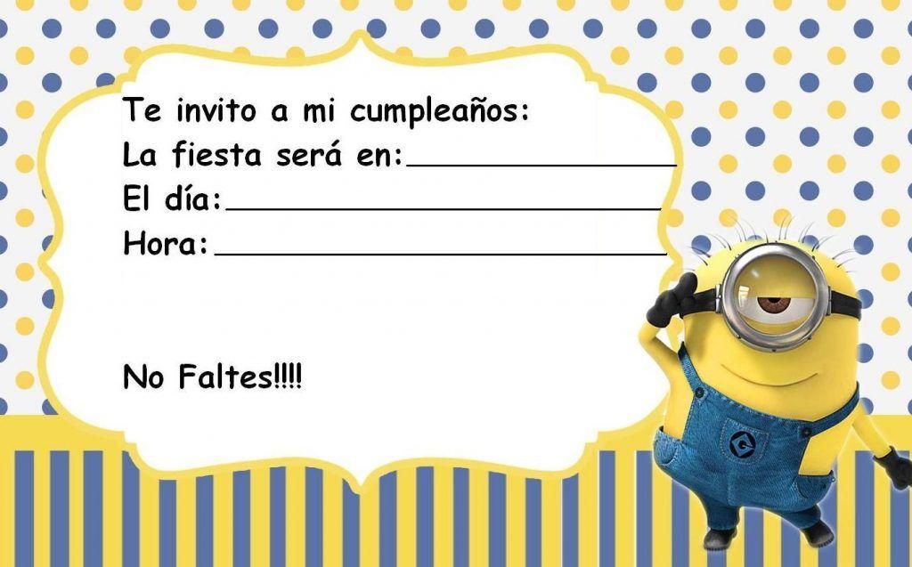 Pin De Grace Amaya En Invitaciones Invitacion Minions