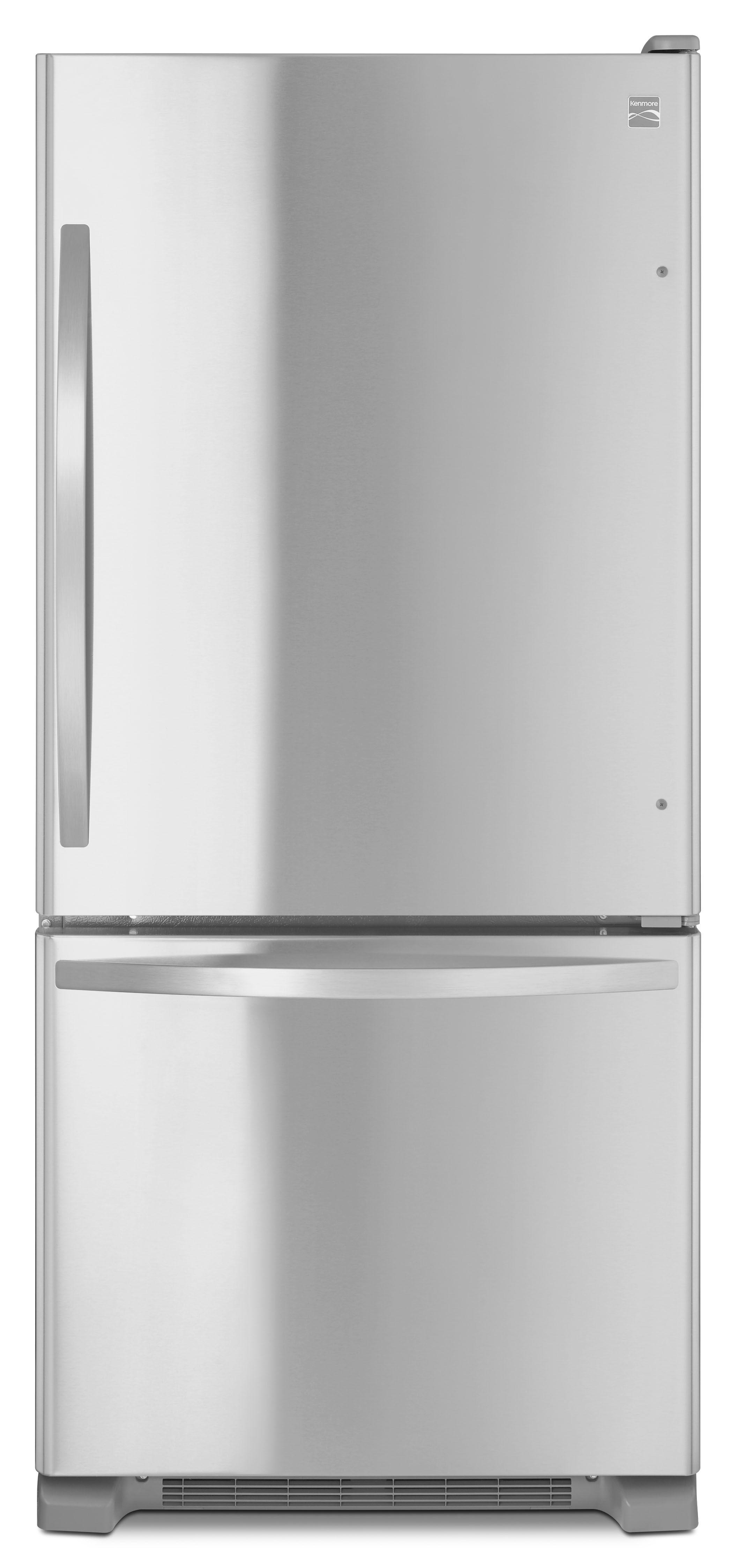 Check Out Kenmore 79313 19 Cu Ft Bottom Freezer Refrigerator Stainless Steel Shopyourway Bottom Freezer Bottom Freezer Refrigerator Refrigerator
