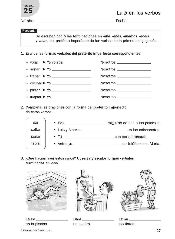 refuerzo lengua cuarto | Ortografia ejercicios, Actividades ...