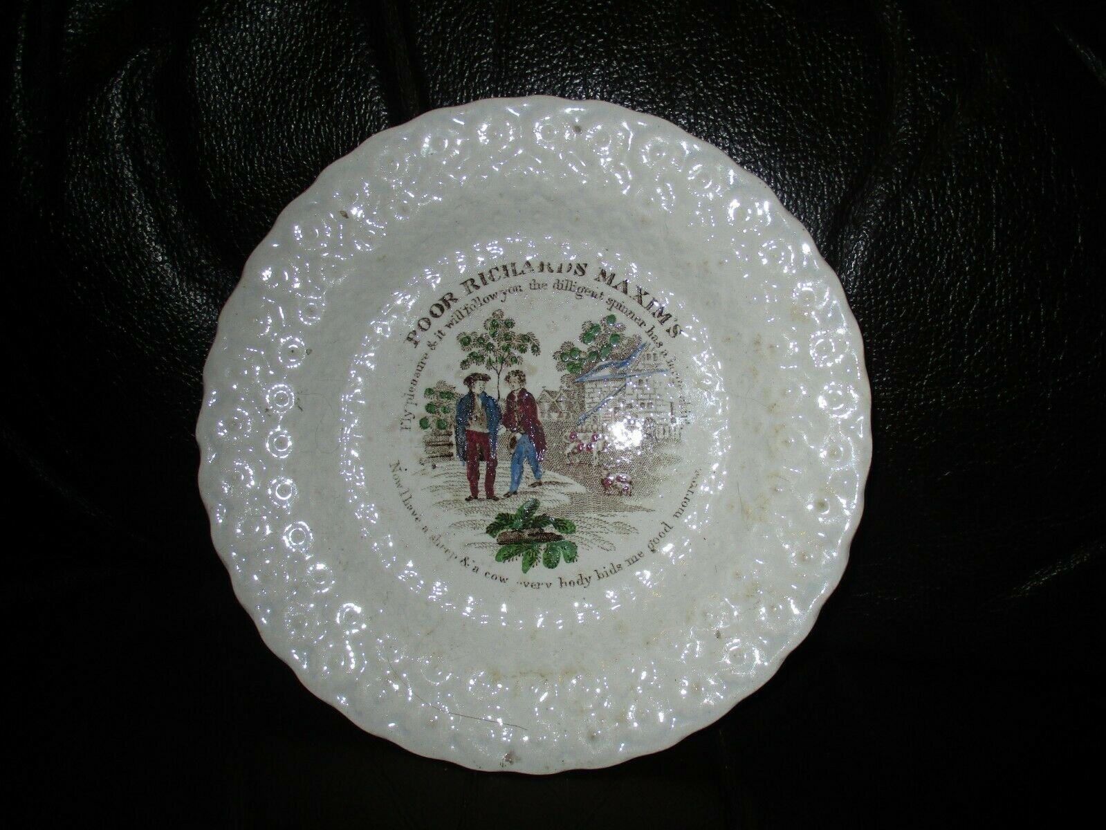 Victorian Childrens Creamware Nursery Ware Plate Poor Richards Maxin S Ebay Creamware Victorian Plates