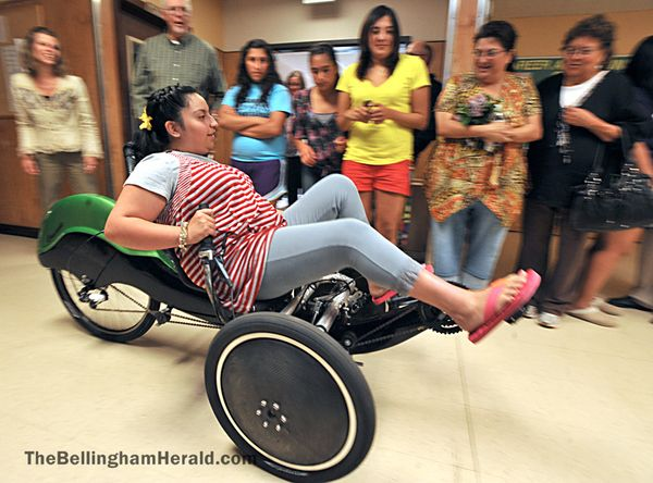 Toys For Spina Bifida : Kalyz lara who has spina bifida tries out the new
