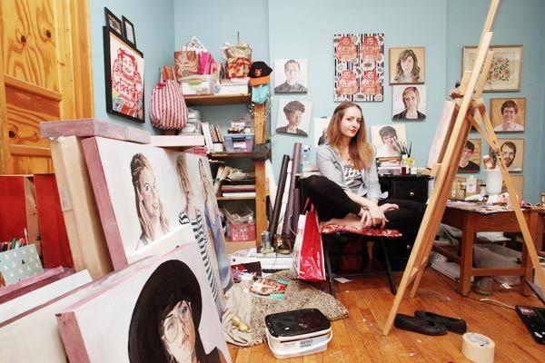Portrait artist Erin Fitzpatrick - Photo by Arianne Teeple