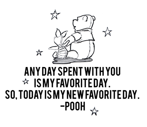 Winnie the Pooh ♥- this would be a cute quote to put on the wall for our babies nursery!!!