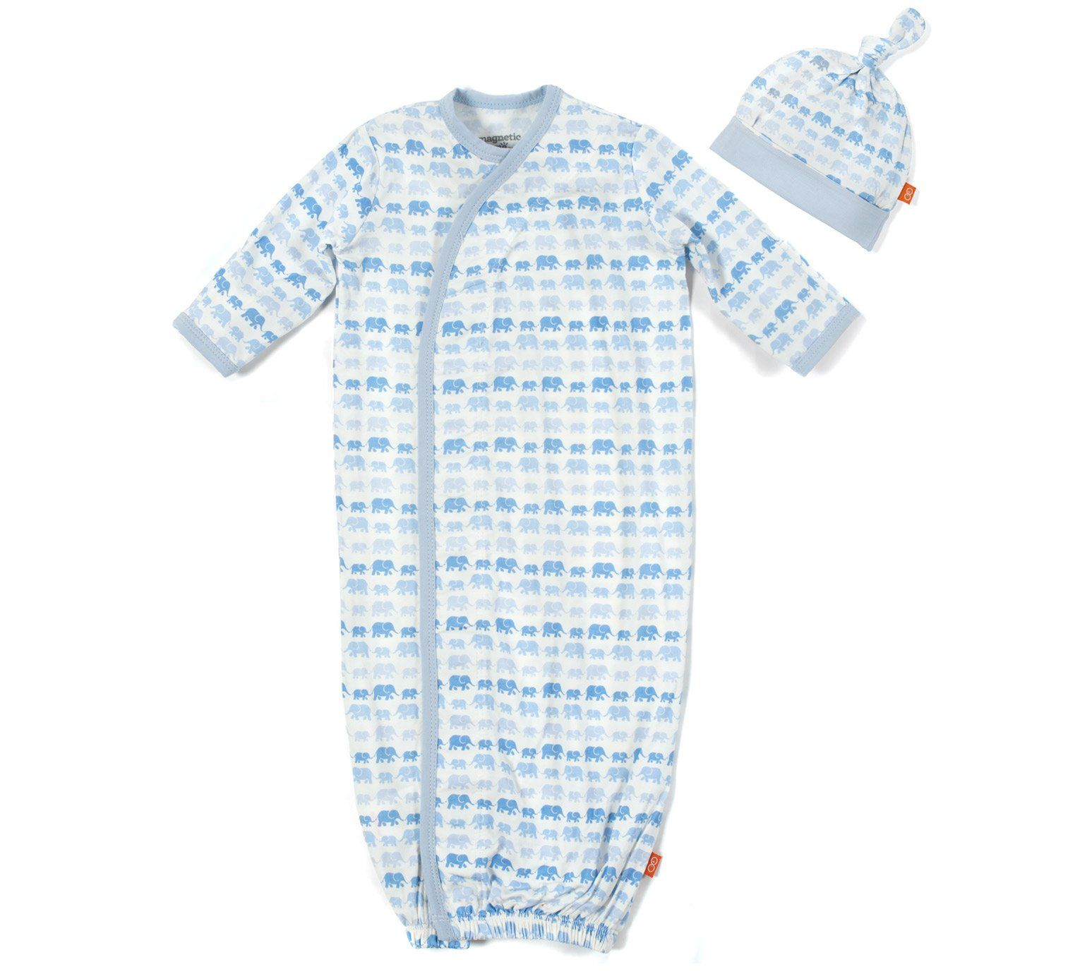 Magnificent Baby Magnetic Modal Blue Dancing Elephants Gown