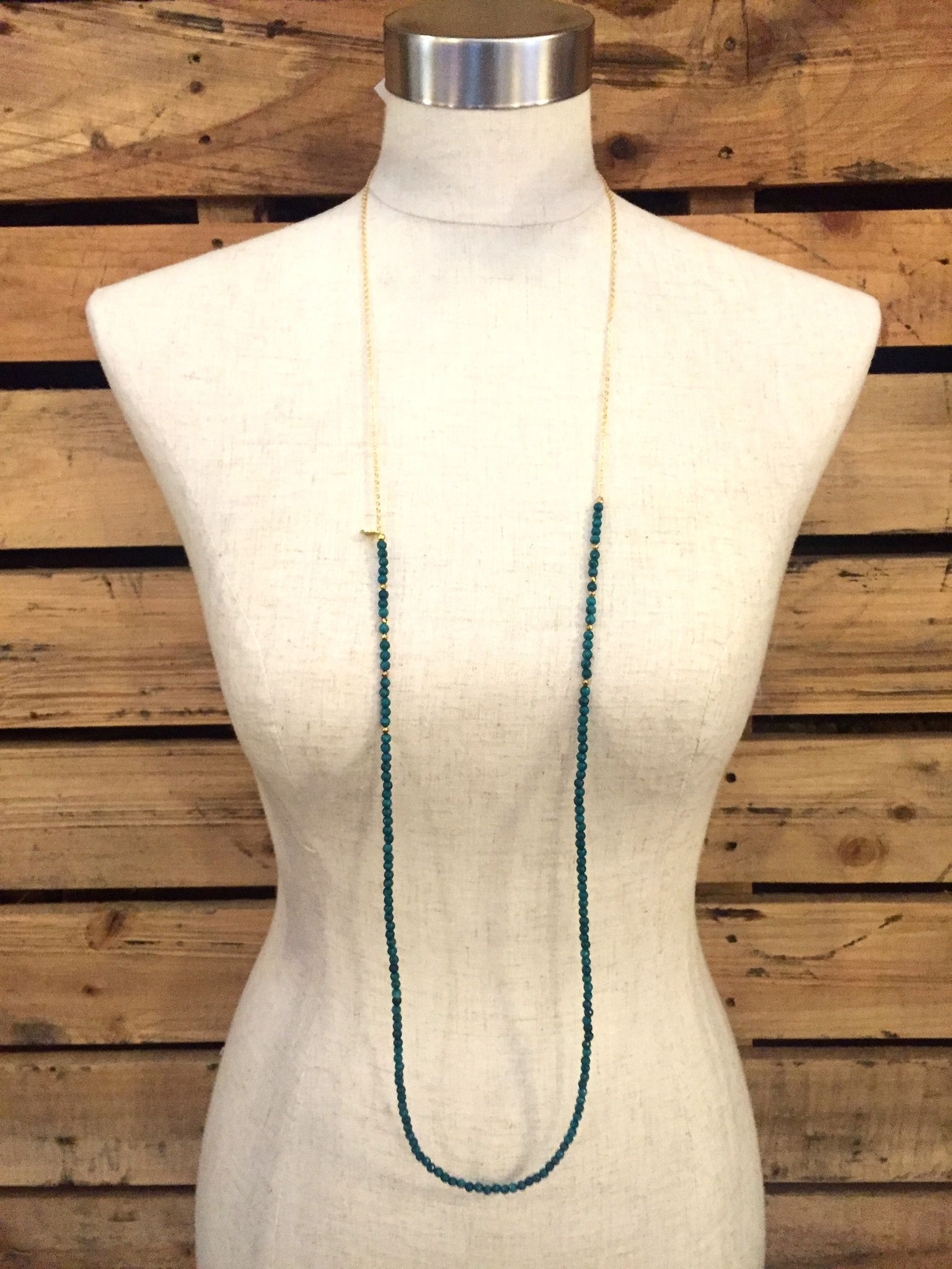 507118c0cabea9 Betsy Pittard Designs- Layering Dainty Necklace- Turquoise from Shop  Southern Roots TX