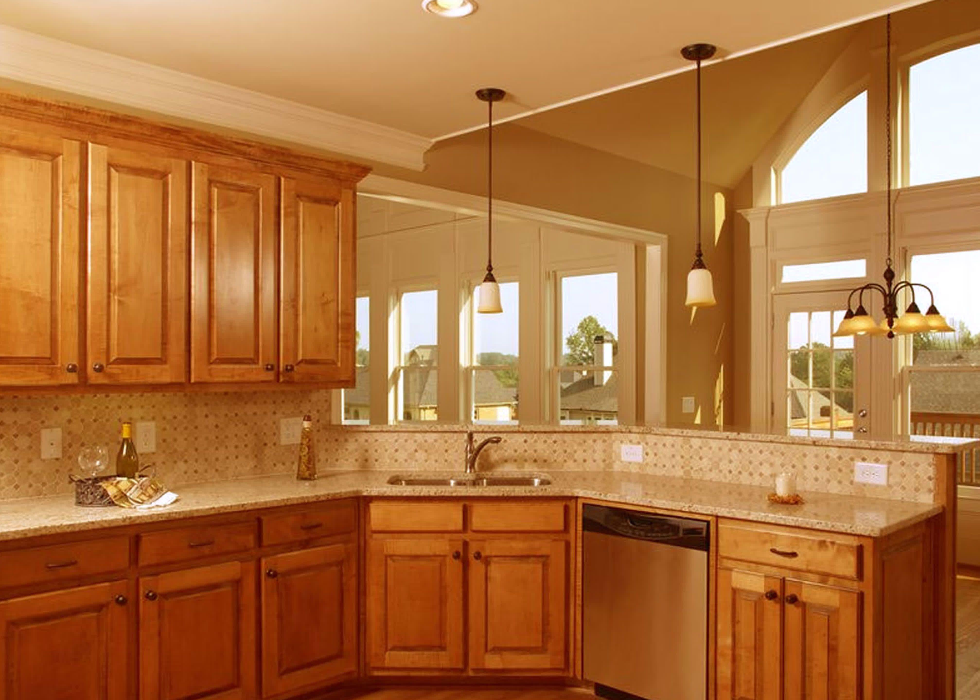 Corner Kitchen Sink Design Ideas Kitchen Ideas With Oak Cabinets