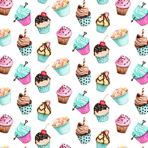 Background Cake And Sweet Afbeelding Cute Wallpapers Colorful Cupcakes Colorful Wallpaper
