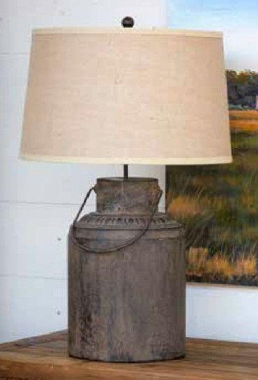 Metal Milk Can Lamp Farmhouse Lamps Milk Cans Lamp