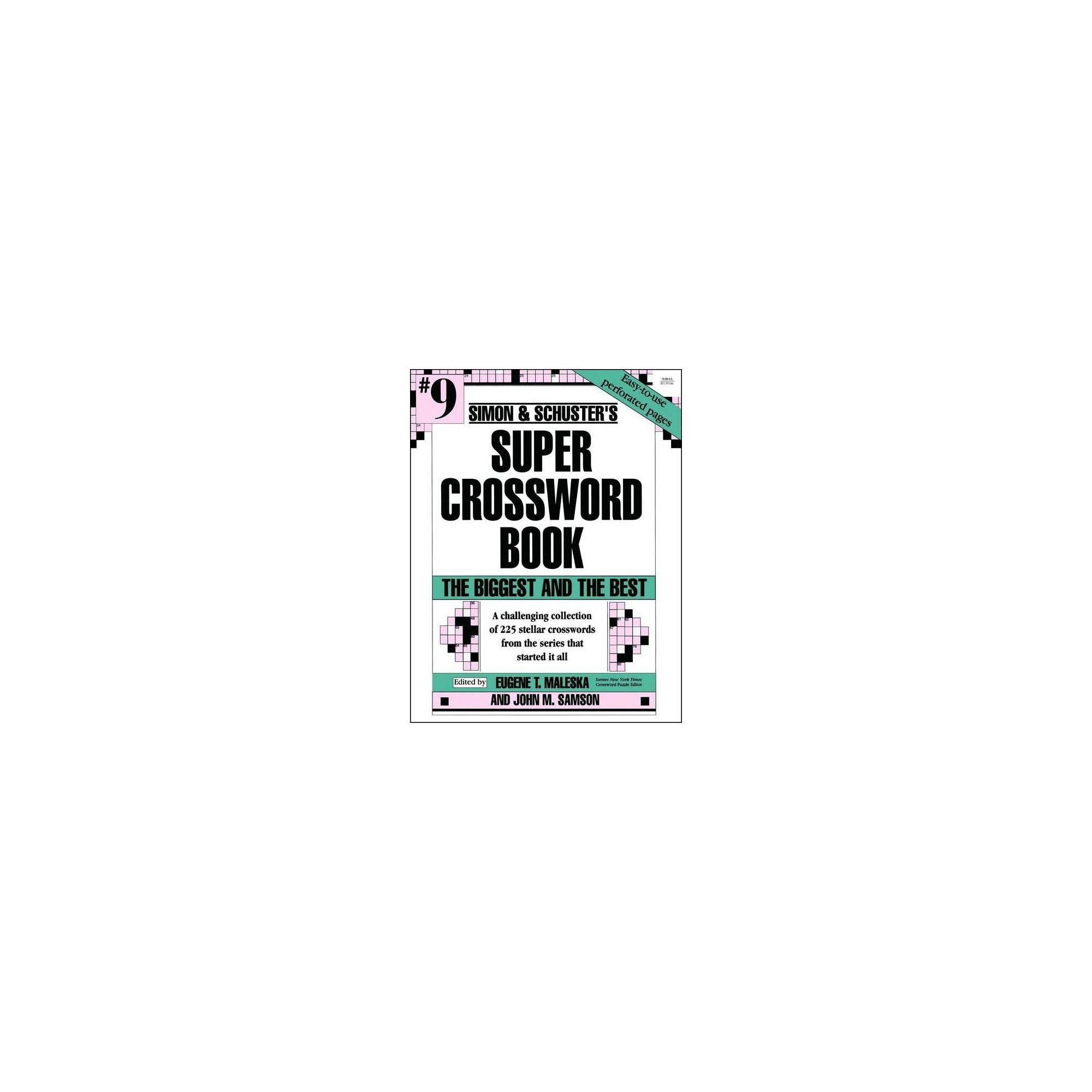 Simon Amp Schuster S Super Crossword Book