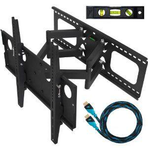Cheetah Mounts Plasma LCD Flat Screen TV Articulating Full Motion Dual Arm  Wall Mount Bracket For