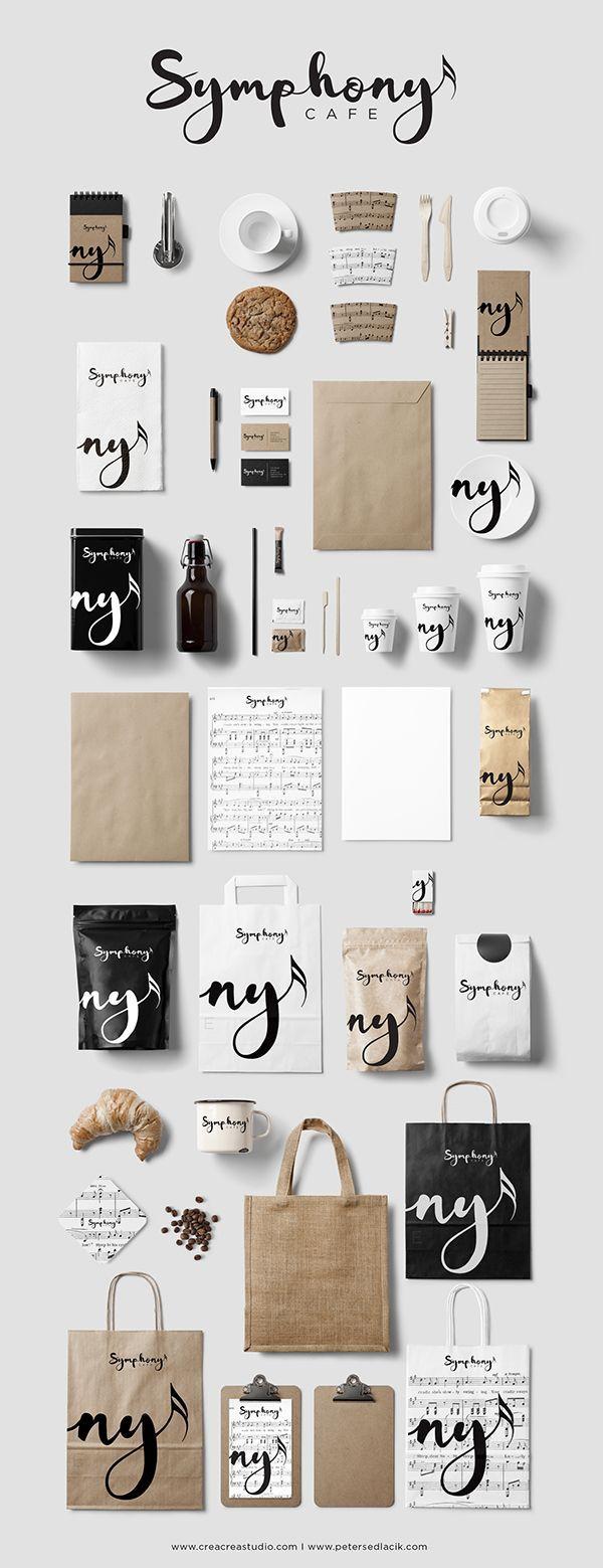 Symphony Cafe Branding & Logo Design creacreastudio.com branding. identity. logo. graphic design. visual communication. typography. logotype. packaging design. label design.