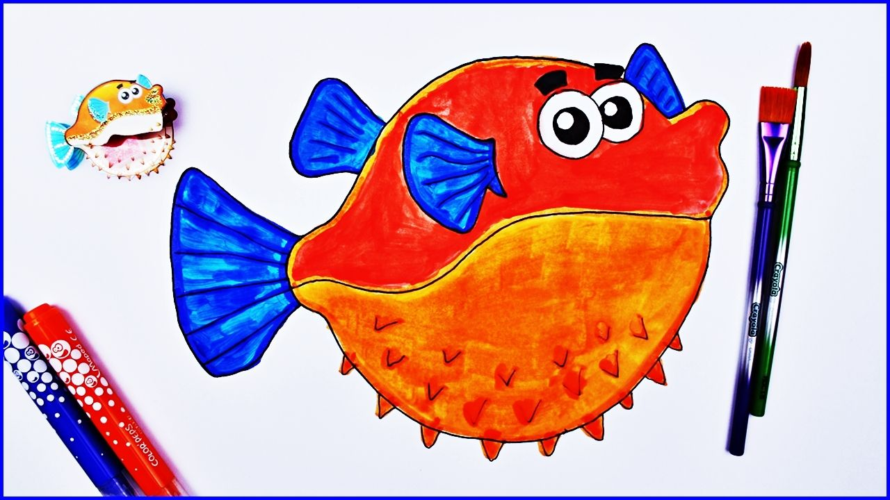 How to Color Fish, Fish Colouring Pages Book - Coloring Fish for ...