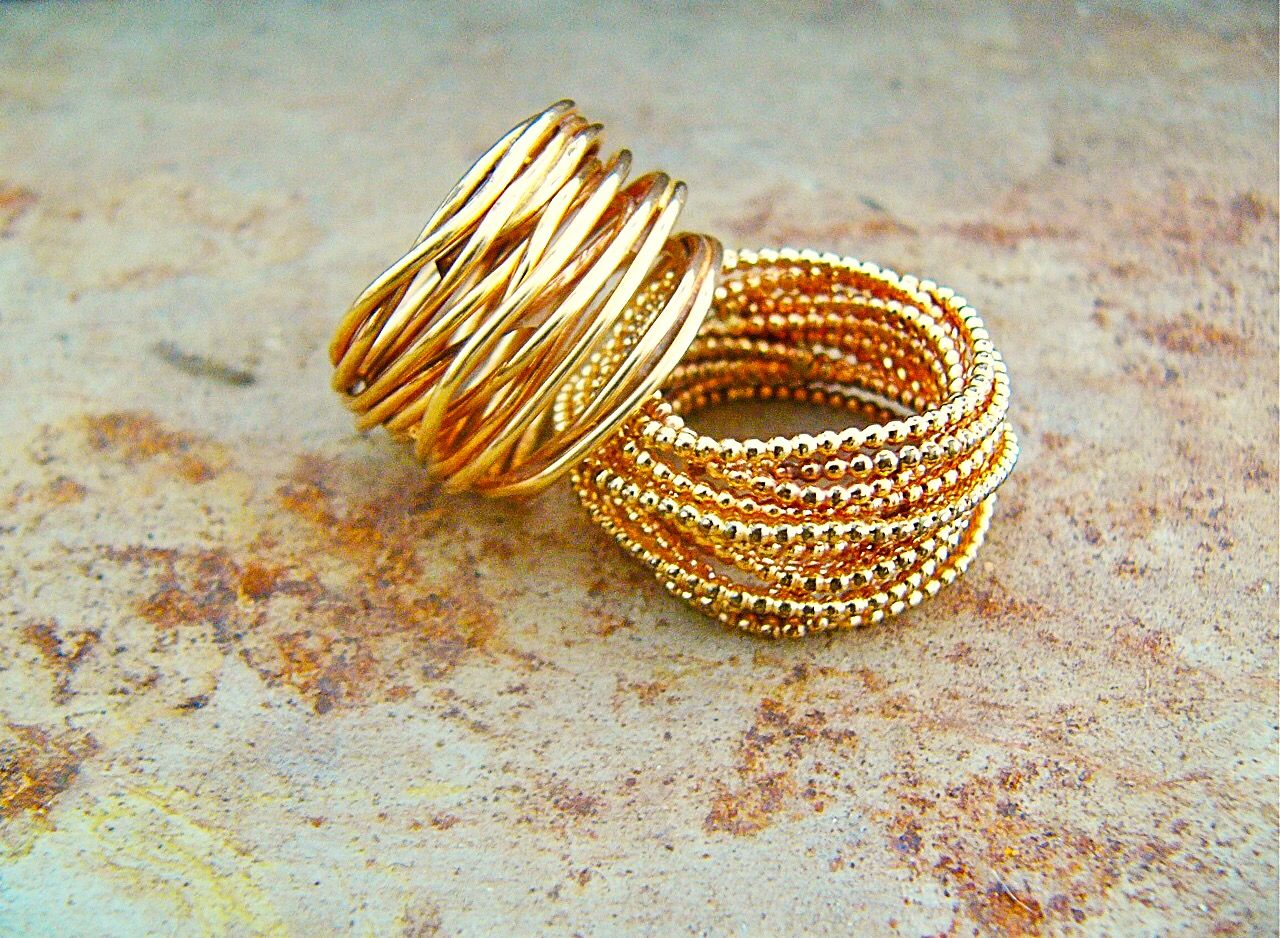 Chunky gold wrap rings gold wrap ring infinity wedding