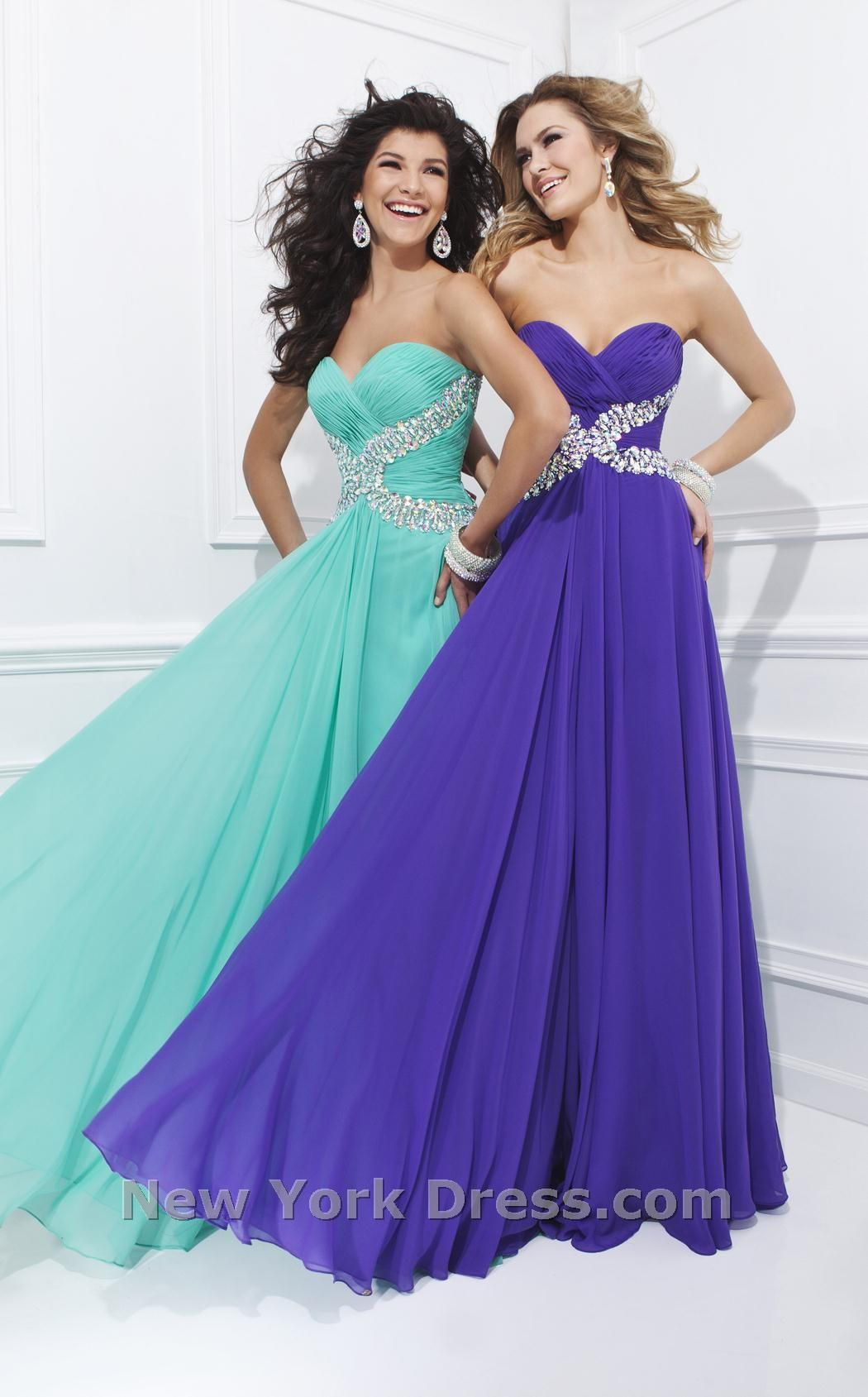 Flowing gown with embellished waist tony bowls tbe beautiful